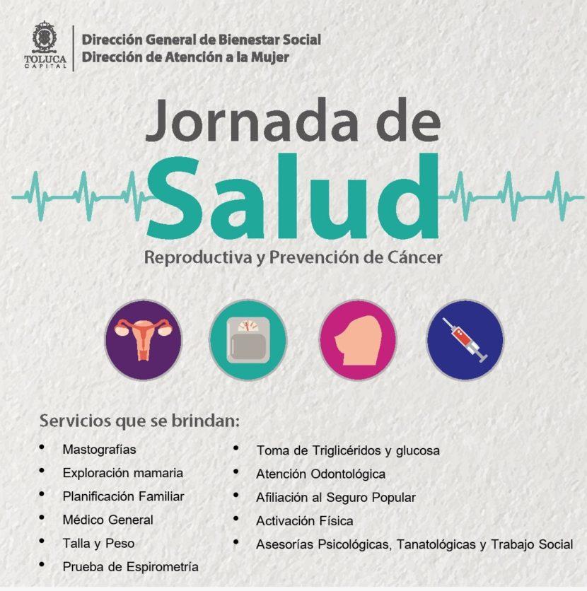 BRINDARÁN JORNADAS DE SALUD EN COMUNIDADES DE TOLUCA