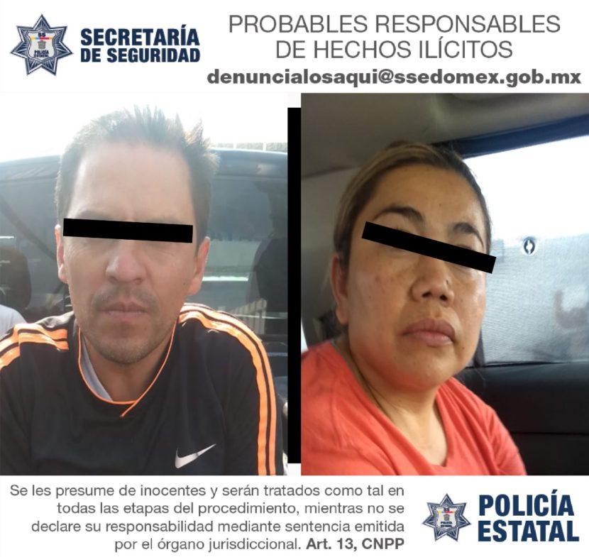 EN TEXCOCO AUTORIDADES DETIENEN A DOS PROBABLES NARCOMENUDISTAS