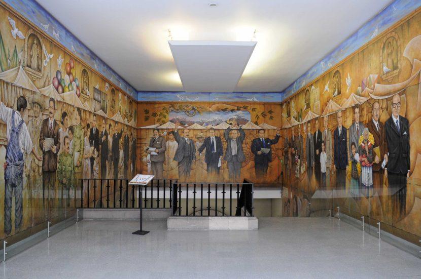 IDENTIDAD MEXIQUENSE, PLASMADA EN MURALES DEL PALACIO DE GOBIERNO