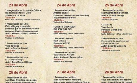 CELEBRA CCMB DÍA INTERNACIONAL DEL LIBRO EN TEXCOCO