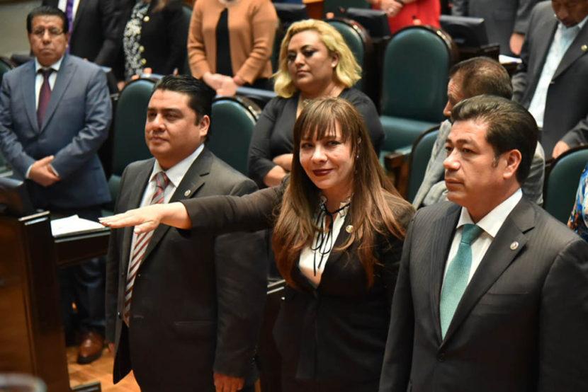 JULIETA VILLALPANDO RINDE PROTESTA COMO VOCAL  DE LA JUNTA DE COORDINACIÓN POLÍTICA