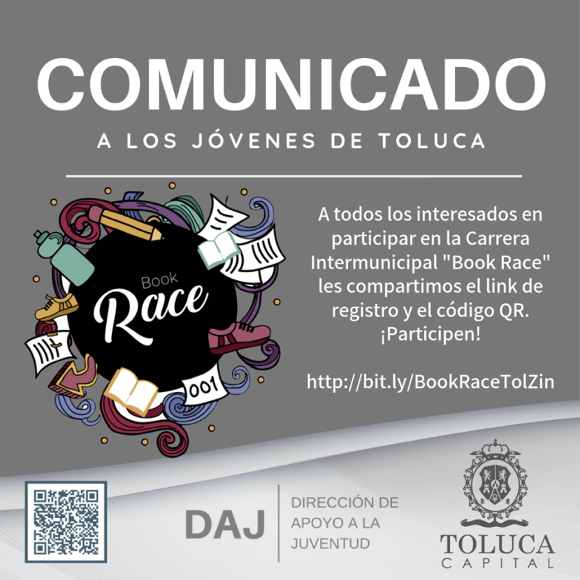INVITA TOLUCA A LA 1ª CARRERA INTERMUNICIPAL BOOK RACE