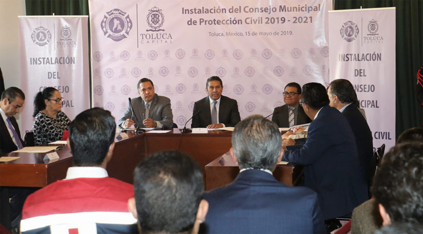 SE INSTALA CONSEJO MUNICIPAL DE PROTECCIÓN CIVIL DE TOLUCA