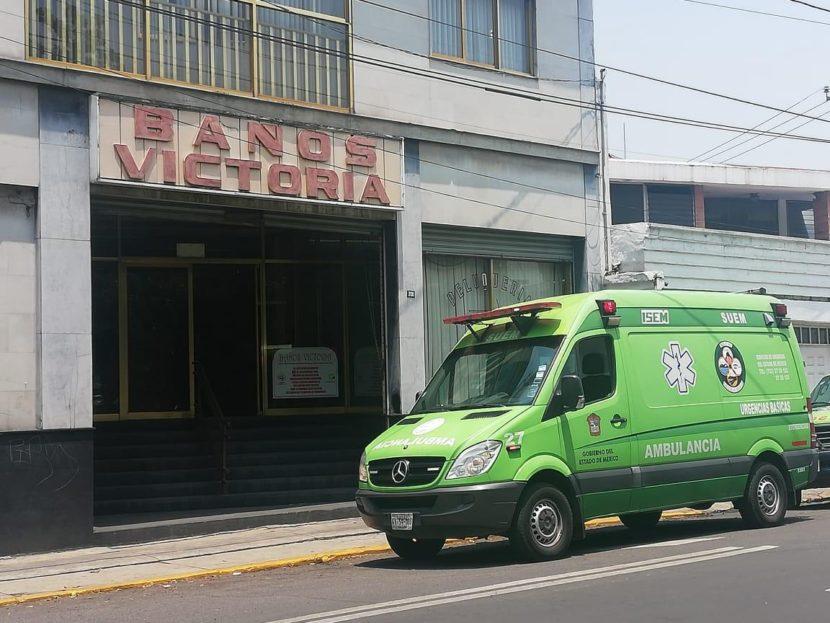 MUERE HOMBRE DE LA TERCERA EDAD EN BAÑOS DE VAPOR