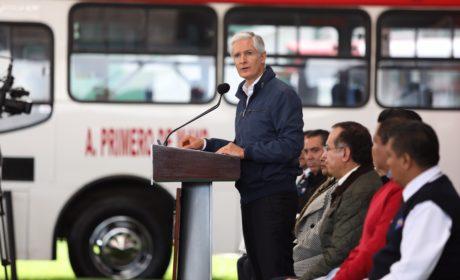 SUMAN 10 MIL 300 UNIDADES DE TRANSPORTE PÚBLICO CON EQUIPO DE SEGURIDAD EN EDOMÉX: ALFREDO DEL MAZO