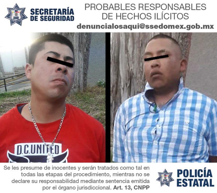 DETIENEN EN TOLUCA A DOS PROBABLES ASALTANTES DE TRANSPORTE PÚBLICO
