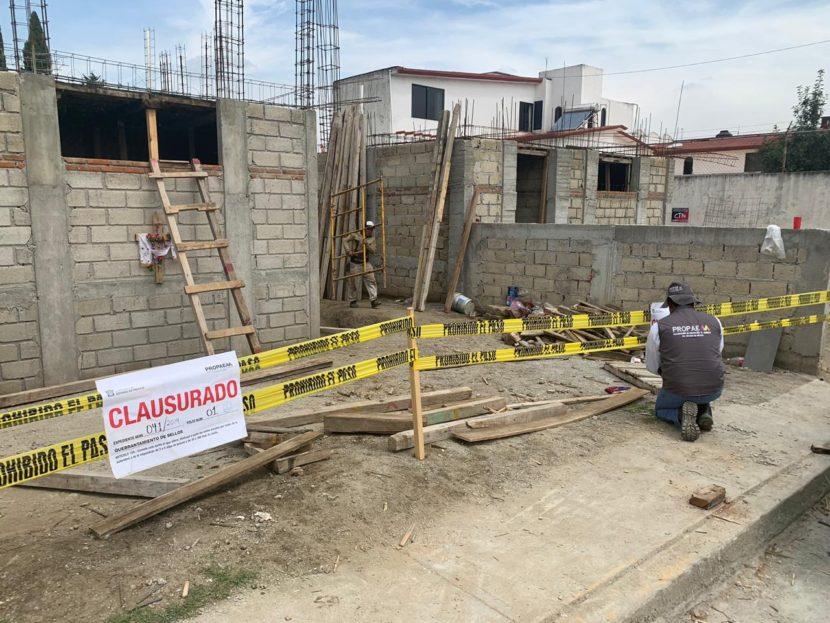 CLAUSURA PROPAEM TRES CONSTRUCCIONES Y UNA MINA EN EL VALLE DE TOLUCA