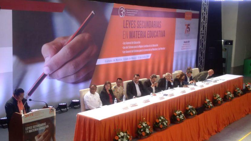 REALIZAN FORO REGIONAL LEYES SECUNDARIAS EN MATERIA EDUCATIVA EN ECATEPEC
