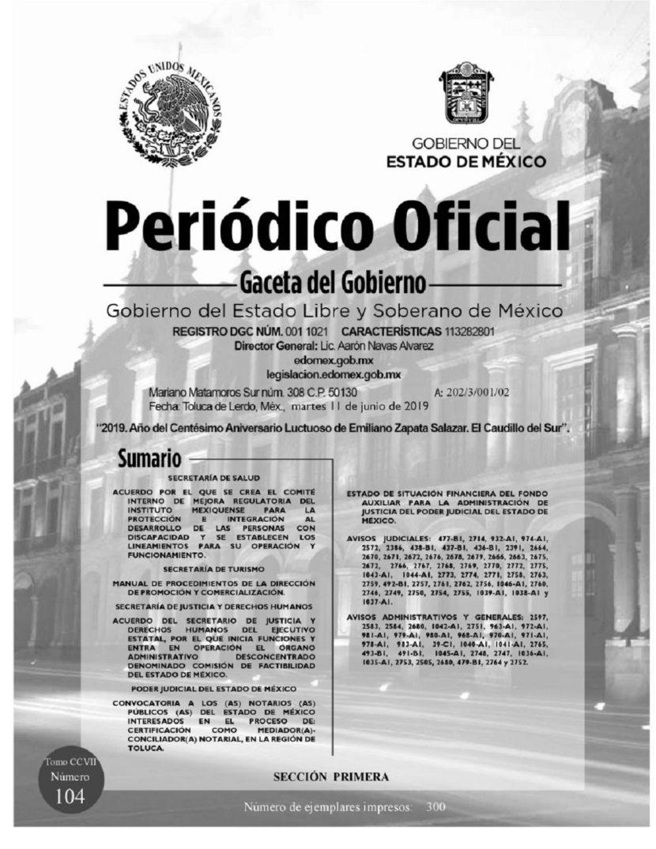 PONEN EN MARCHA COMISIÓN DE FACTIBILIDAD DEL ESTADO DE MÉXICO