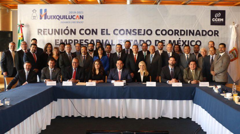 RECONOCEN EMPRESARIOS POLÍTICAS DE HUIXQUILUCAN EN MATERIA DE SEGURIDAD, DESARROLLO SOCIAL Y ECONÓMICO