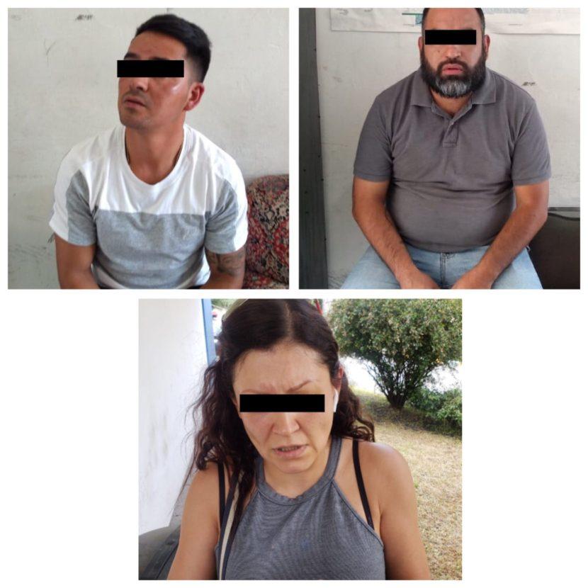 OPERATIVO DE SEGURIDAD EN HUIXQUILUCAN, DA COMO RESULTADO LA DETENCIÓN DE TRES SUJETOS
