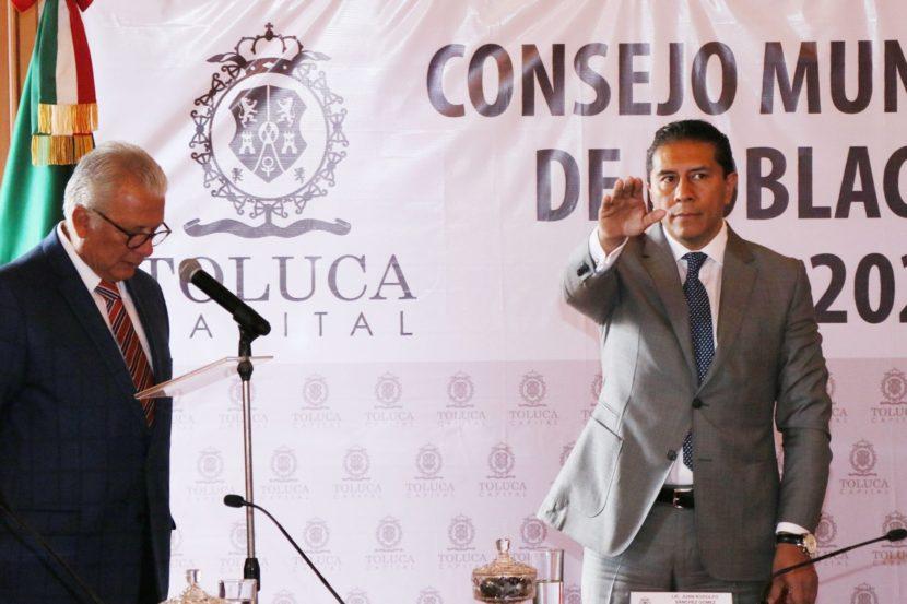 INSTALA TOLUCA CONSEJO MUNICIPAL DE POBLACIÓN PARA EL DESARROLLO DEMOGRÁFICO