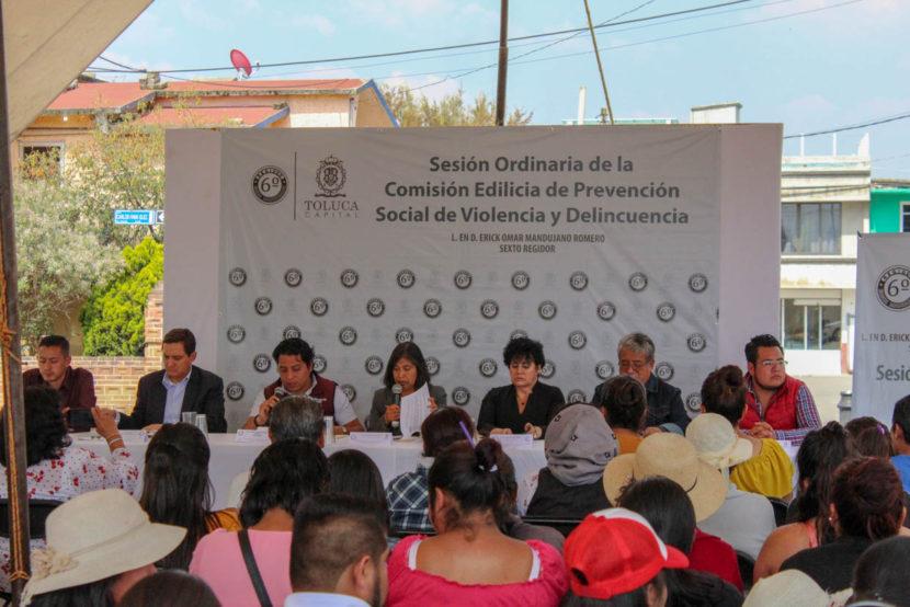 SE REFUERZA LA PREVENCIÓN COMUNITARIA PARA ERRADICAR DELITOS EN LA ZONA NORTE DE TOLUCA