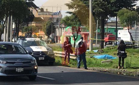 CICLISTA ES ARROLLADO POR PATRULLA EN LA TOLUCA PALMILLAS