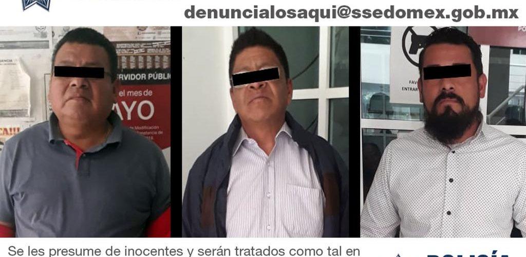 DETIENEN A TRES POLICÍAS POR ROBO EN EDOMEX