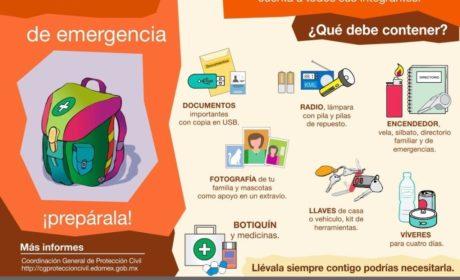RECOMIENDA  PROTECCIÓN CIVIL CONTAR CON UN PLAN FAMILIAR EN CASOS DE EMERGENCIA