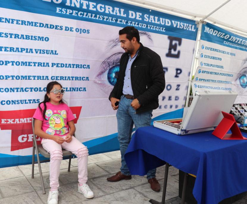 PARA ÉSTE REGRESO A CLASES, EL GOBIERNO DE HUIXQUILUCAN REALIZA CAMPAÑA DE SALUD VISUAL