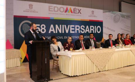 CONMEMORA EDOMÉX 158 ANIVERSARIO DEL REGISTRO CIVIL