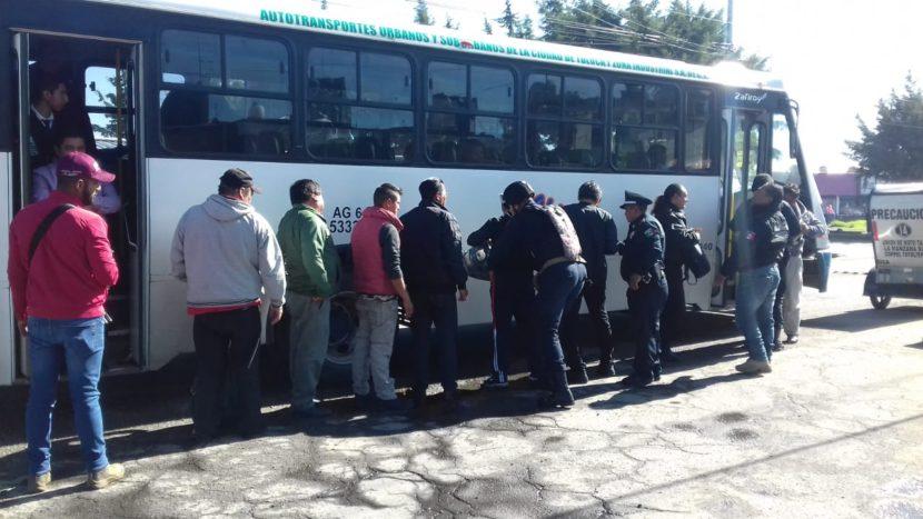 TOLUCA  IMPLEMENTA OPERATIVO PARA INHIBIR EL ROBO EN TRANSPORTE PÚBLICO