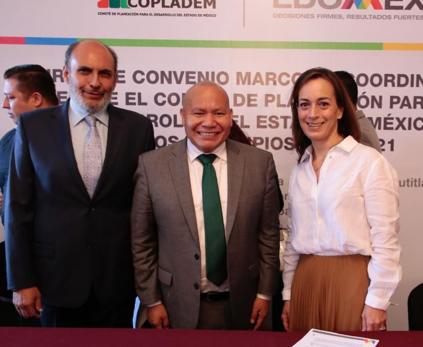 TLALNEPANTLA, SEDE DE LA FIRMA CONVENIO COPLADEM Y MUNICIPIOS