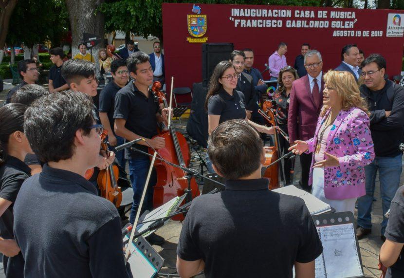 "ALCALDESA RUTH OLVERA INAUGURA CASA DE MÚSICA ""FRANCISCO GABILONDO SOLER"""