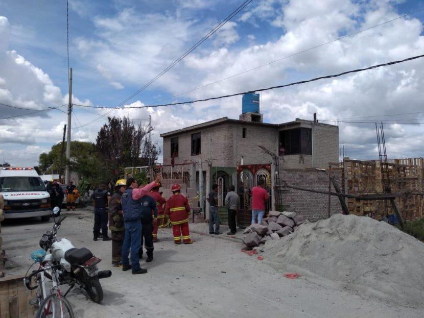 ATIENDEN EXPLOSIÓN DE MATERIAL PIROTÉCNICO EN TULTEPEC