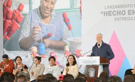 PONE EN MARCHA ALFREDO DEL MAZO PROGRAMA HECHO EN EDOMÉX, PARA FORTALECER LA PRODUCCIÓN DE ARTESANÍAS MEXIQUENSES