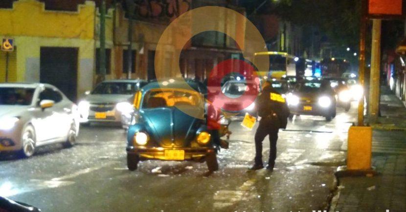 CHOQUE EN TOLUCA DEJA UN ADULTO MAYOR HERIDO