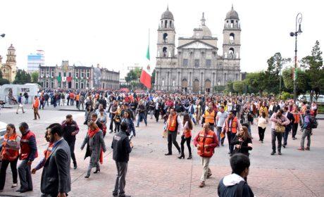 PARTICIPAN MÁS DE 6 MILLONES DE MEXIQUENSES DE ALREDEDOR DE 9 MIL INMUEBLES EN MACRO SIMULACRO NACIONAL