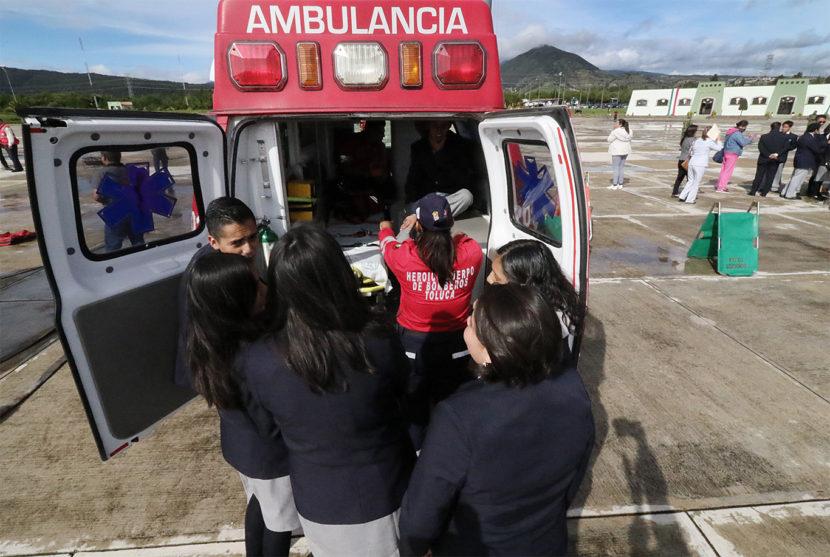 SE INTEGRAN NUEVOS PARAMÉDICOS A PROTECCIÓN CIVIL Y BOMBEROS DE TOLUCA