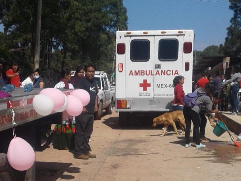 EXPLOSIÓN DE COHETES DURANTE PEREGRINACIÓN DEJA DOS HERIDAS EN VALLE DE BRAVO