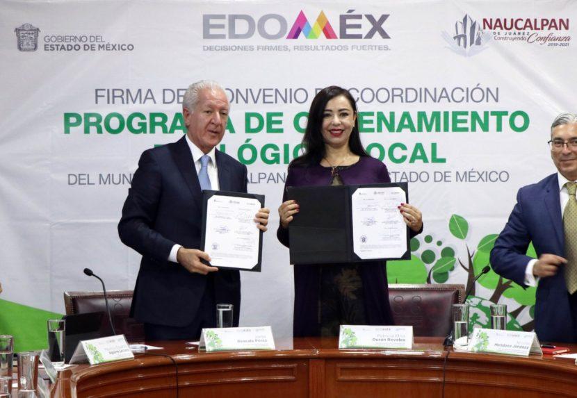 FIRMA GEM CONVENIO DE ORDENAMIENTO ECOLÓGICO CON AYUNTAMIENTO DE NAUCALPAN