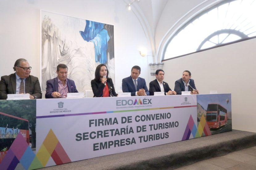 FIRMA SECRETARÍA DE TURISMO ESTATAL CONVENIO CON TURIBÚS PARA LA ATRACCIÓN DE VISITANTES DESDE LA CDMX