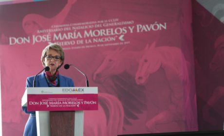 RECUERDA GOBIERNO DEL EDOMÉX AL GENERALÍSIMO JOSÉ MARÍA MORELOS EN SU NATALICIO