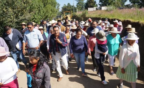 MÁS DE CIEN OBRAS CONSTRUIDAS EN ALMOLOYA DE JUÁREZ