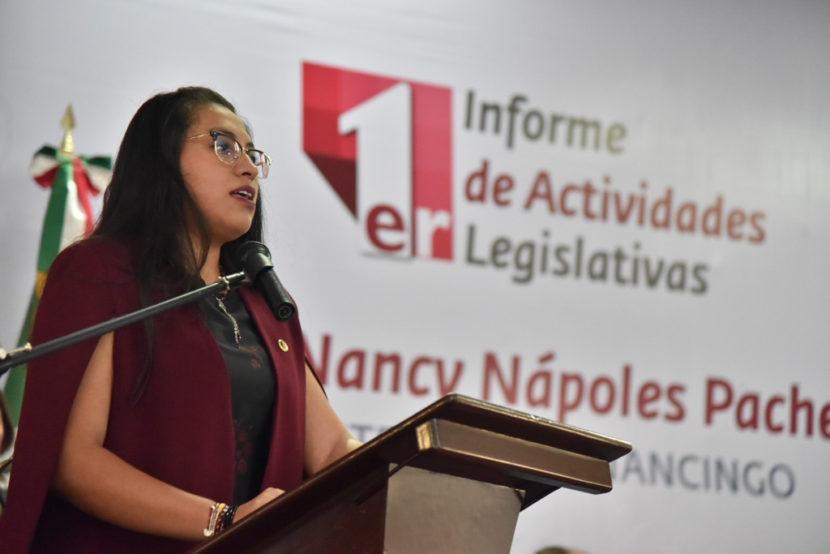 A MORENA LE CORRESPONDE REIVINDICAR EL QUEHACER LEGISLATIVO: NANCY NÁPOLES