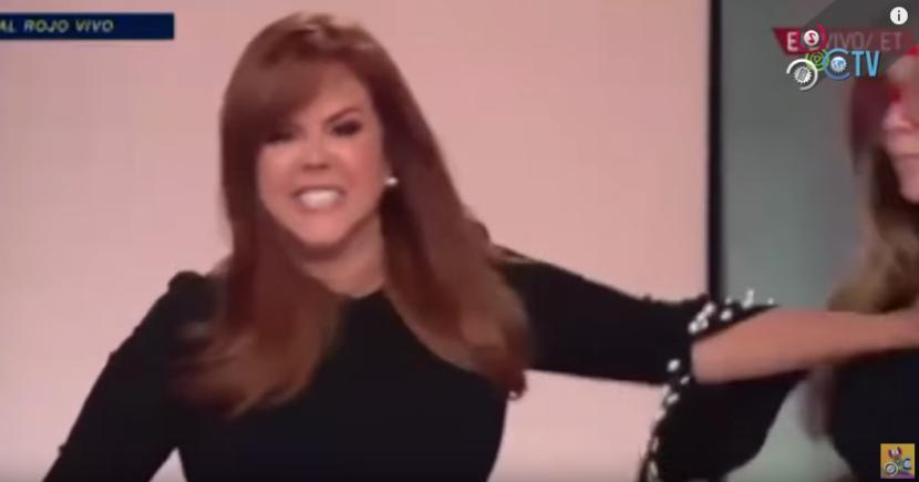 DIFUNDEN NUEVAMENTE VIDEO DE MARÍA CELESTE EMPUJANDO A SU MAQUILLISTA