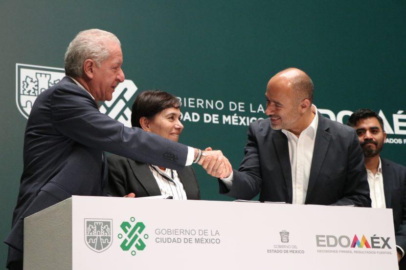 FIRMAN GOBIERNOS DE CDDMEX Y EDOMEX CONVENIO DE COLABORACIÓN PARA DISPOSICIÓN DE RESIDUOS SÓLIDOS URBANOS