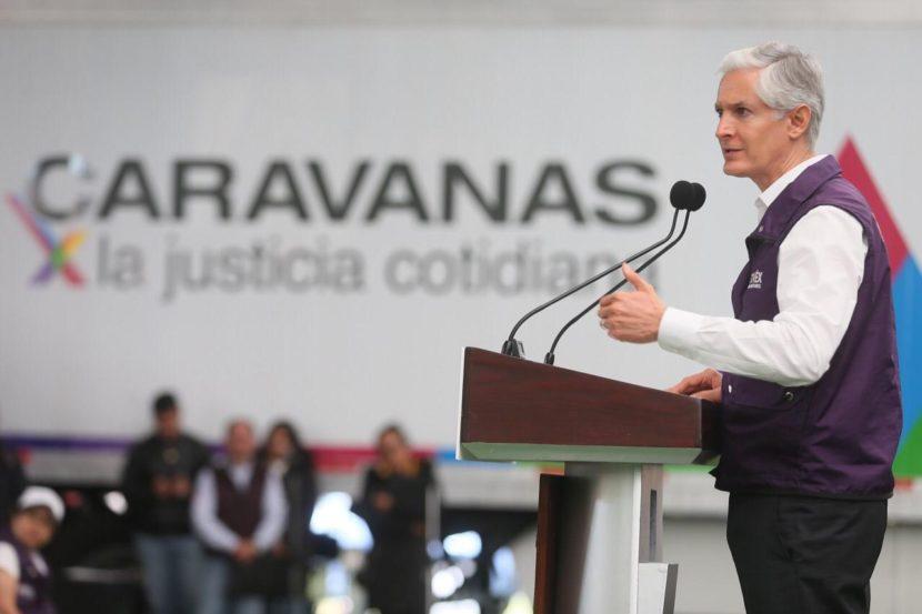 LANZA ALFREDO DEL MAZO PROGRAMA CARAVANAS POR LA JUSTICIA COTIDIANA