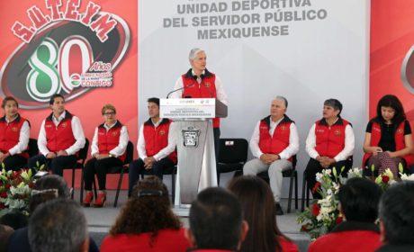 ASISTE ALFREDO DEL MAZO A INAUGURACIÓN DE LA UNIDAD DEPORTIVA DEL SERVIDOR PÚBLICO MEXIQUENSE