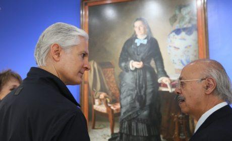ALFREDO DEL MAZO iNAUGURA EL CORREDOR DE LA PLÁSTICA MEXIQUENSE Y EL MUSEO CASA TOLUCA 1920