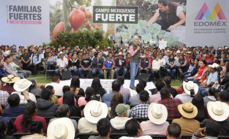 REFRENDA ALFREDO DEL MAZO MAZA EL COMPROMISO DE SU ADMINISTRACIÓN PARA CONTINUAR CON EL FORTALECIMIENTO DEL CAMPO MEXIQUENSE