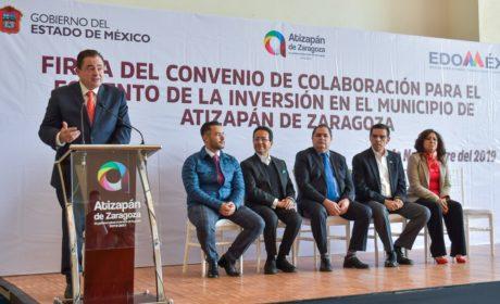 GOBIERNOS DE ATIZAPÁN Y DEL ESTADO DE MÉXICO FIRMAN CONVENIO PARA IMPULSAR LA ECONOMÍA LOCAL