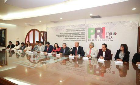ALEJANDRA DEL MORAL Y DARÍO ZACARÍAS, ELECTOS PARA DIRIGIR EL PRI EDOMÉX