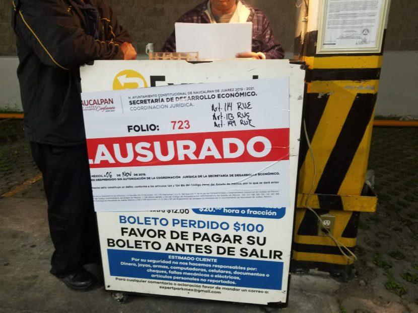 REANUDA NAUCALPAN OPERATIVOS EN ESTACIONAMIENTOS