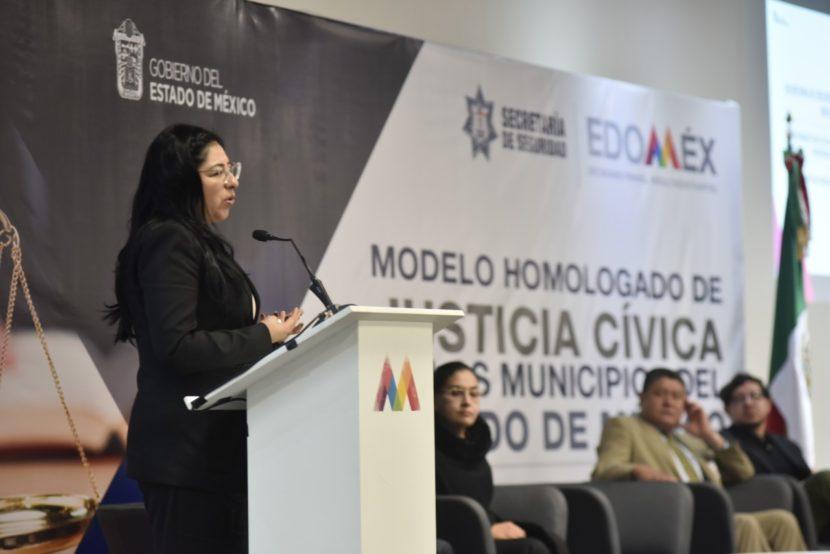 SECRETARÍA DE SEGURIDAD IMPARTE TALLER SOBRE EL MODELO HOMOLOGADO DE JUSTICIA CÍVICA EN EDOMÉX