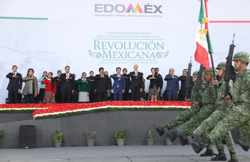 ENCABEZA ALFREDO DEL MAZO MAZA CEREMONIA POR EL 109 ANIVERSARIO DE LA REVOLUCIÓN MEXICANA