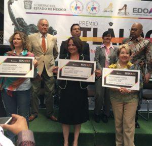 RECONOCEN A LOS GANADORES DEL PREMIO TLÁLOC 2019