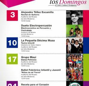 CONTINÚAN DOMINGOS CULTURALES EN EL CENTRO CULTURAL MEXIQUENSE
