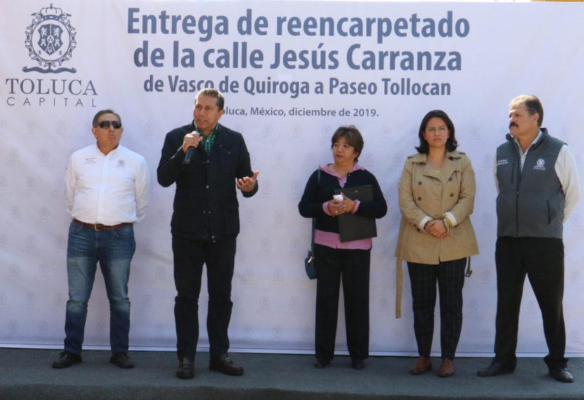 INICIA EN TOLUCA PROGRAMA DE REENCARPETADO Y PAVIMENTACIÓN